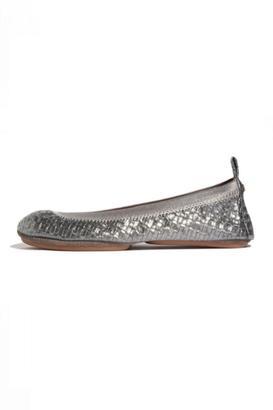 Yosi Samra Woven Metallic Flats $88 thestylecure.com