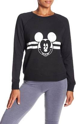 David Lerner Mickey Mouse Raglan Sleeve Stripe Pullover