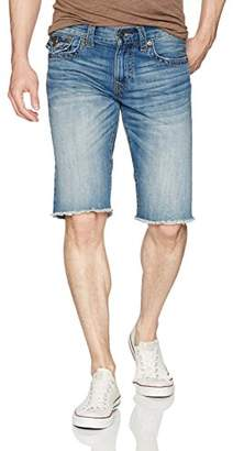 True Religion Men's Ricky Straight Short with Back Flap Pockets