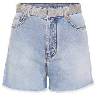 Alexandre Vauthier Crystal-embellished denim shorts