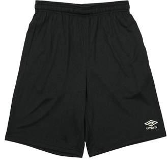 Umbro Men's Branded Performance Shorts, Black/White