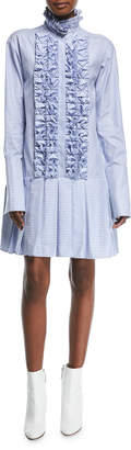 Live A Little Maggie Marilyn Striped Cotton Dress