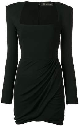 Versace shoulder pad mini dress