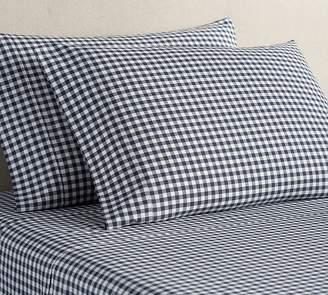 Pottery Barn Gingham Check Organic Pillowcases