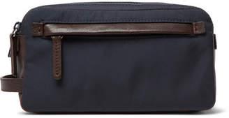 Brunello Cucinelli Full-Grain Leather And Nylon Wash Bag