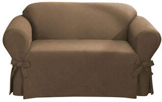 Sure Fit Bruce Suede One-Piece Loveseat Slipcover
