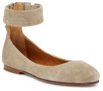 Frye Carson Ankle Strap Ballet Flat