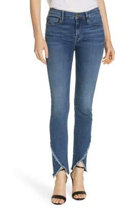 Frame Le Skinny de Jeanne Asymmetrical Hem Jeans