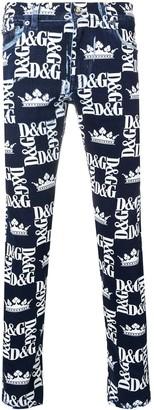 Dolce & Gabbana all-over logo print jeans