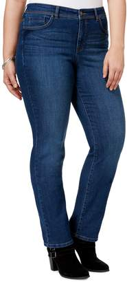 Style&Co. Style & Co. Plus Tummy Control Straight-Leg High-Rise Jeans