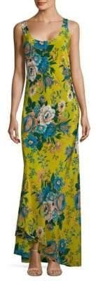 Diane von Furstenberg Floral-Print Silk Slip Dress