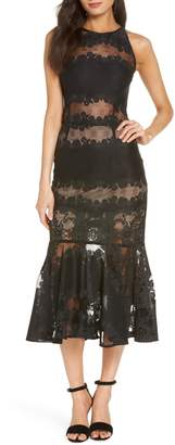 Bronx AND BANCO Bettina Lace Panel Tea Length Dress