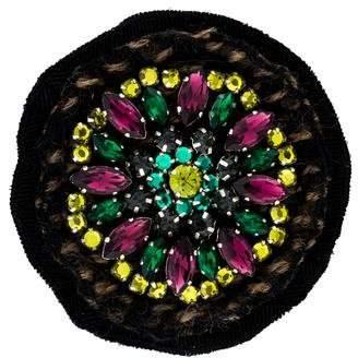 Prada Crystal Embellished Brooch