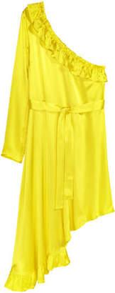 H&M Asymmetric Flounced Dress - Yellow