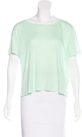 Alexander Wang T by Alexander Wang Round Neck Short Sleeve T-Shirt