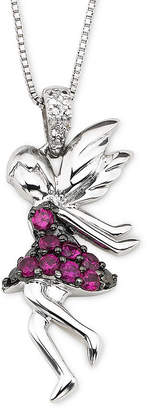 FINE JEWELRY Lab-Created Ruby & Diamond-Accent Fairy Pendant Necklace