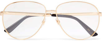 fd05333ad18 Gucci Aviator-Style Gold-Tone and Enamel Optical Glasses - Men - Gold