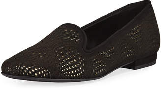 Sesto Meucci Varlet Perforated Leather Loafers