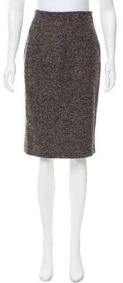 Max Mara Virgin Wool A-Line Skirt