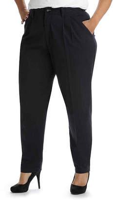 Lee Side-Elastic Twill Pants - Plus