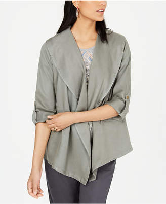 Style&Co. Style & Co Draped Open-Front Jacket
