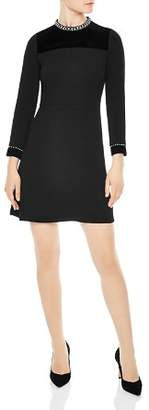 Sandro Studded A-Line Mini Dress