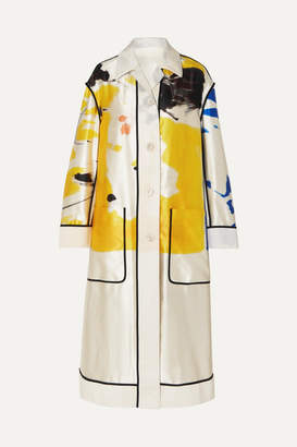 4c542f3fc3bc4 Dries Van Noten Oversized Printed Cotton And Silk-blend Coat - Yellow