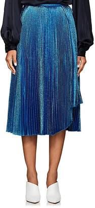 Cédric Charlier Women's Metallic Pleated Midi-Skirt