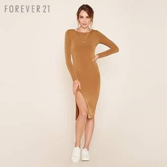 Forever 21 (フォーエバー 21) - Forever 21 フロントスリットタイトワンピース