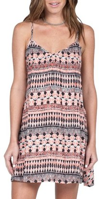 Volcom 'Back For U' Print Camisole Dress $45 thestylecure.com