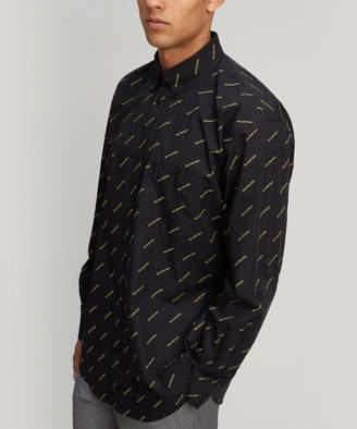 Balenciaga All-Over Logo Shirt