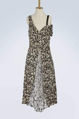 Proenza Schouler Silk open shoulder dress