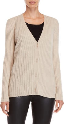 Lafayette 148 New York Ribbed Cashmere Cardigan