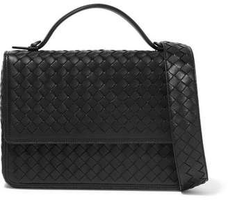 Bottega Veneta Intrecciato Leather Shoulder Bag - Black