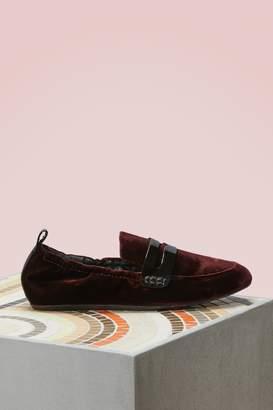 Lanvin Velvet Slippers