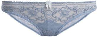Stella Mccartney Lingerie - Ophelia Whistling Lace Briefs - Womens - Light Blue