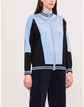 Sandro Embellished knitted cardigan