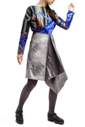 Clara Kaesdorf Silver Velvet Skirt