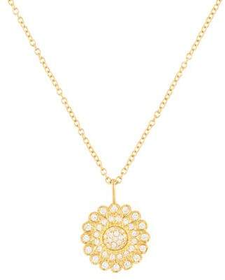Jamie Wolf 18K Diamond Sunflower Pendant Necklace