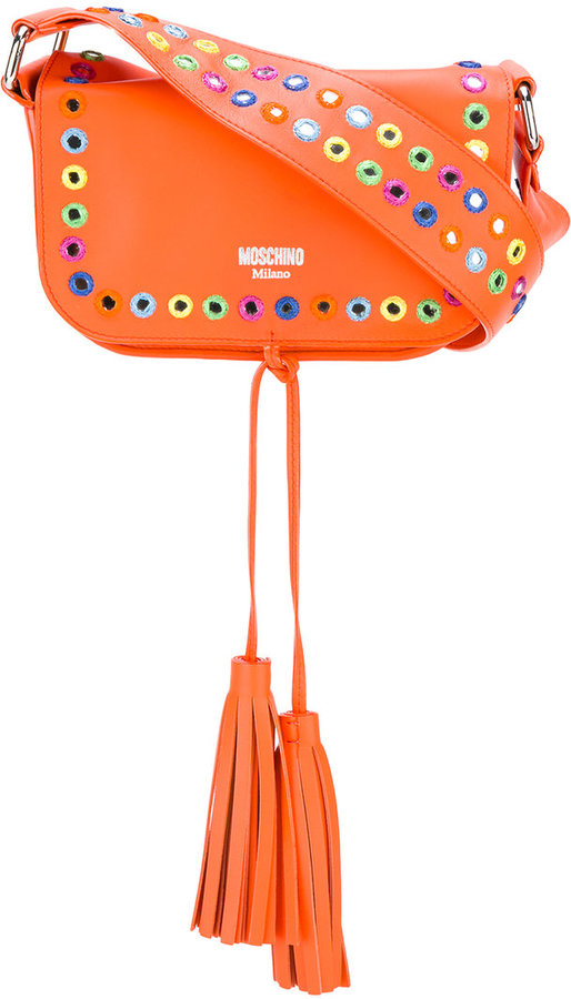 Moschino Moschino mirror embellished shoulder bag