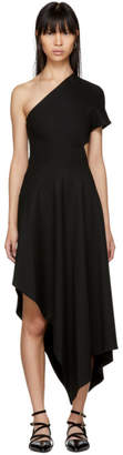 Rosetta Getty Black Slashed Panel Single-Shoulder Dress