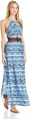 Nanette Lepore Women's Santorini Scallop Maxi Cover Up Dress