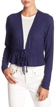 Abound Cropped Tie Front Cardigan