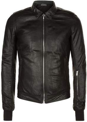 Rick Owens Leather Rotterdam Jacket