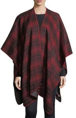 Woolrich Plaid Oversized Cashmere Cape