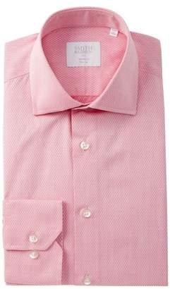 Smyth & Gibson Diamond Weave Tailored Fit Dress Shirt
