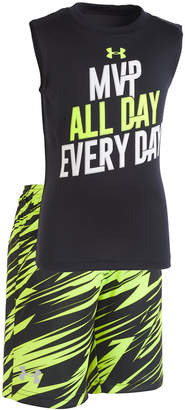 Under Armour 2-Pc. Graphic-Print Tank Top & Shorts Set, Little Boys