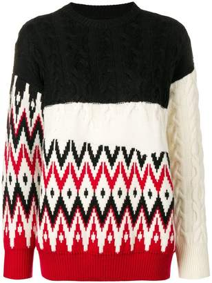 Laneus colour block sweater