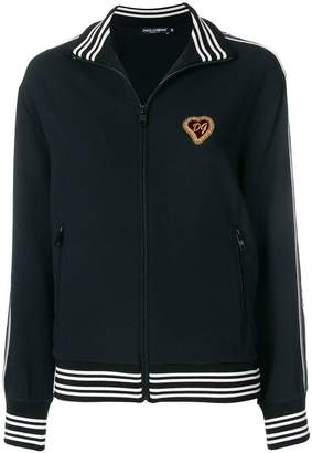 Dolce & Gabbana zip front logo patch sports jacket