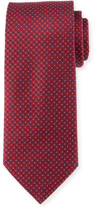 Eton Mini Coffee Bean Silk Tie, Burgundy